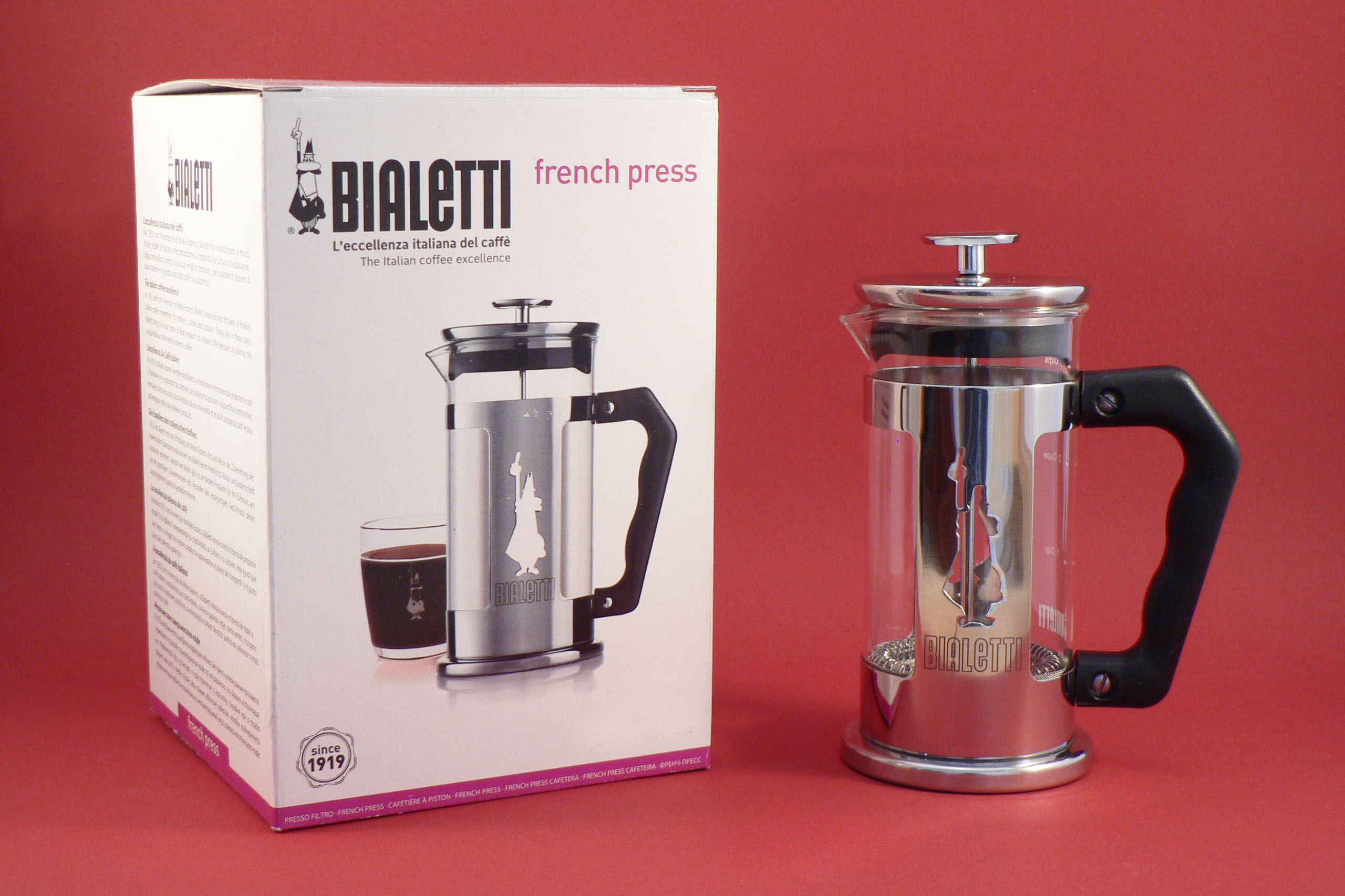 French press Bialetti Preziosa 1l French press Bialetti panáček - 1l