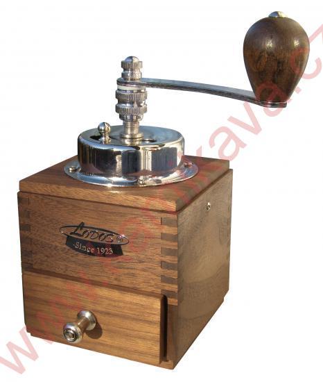 Lodos Lux ořech - mlýnek na kávu Kávomlýnek Lux ořech