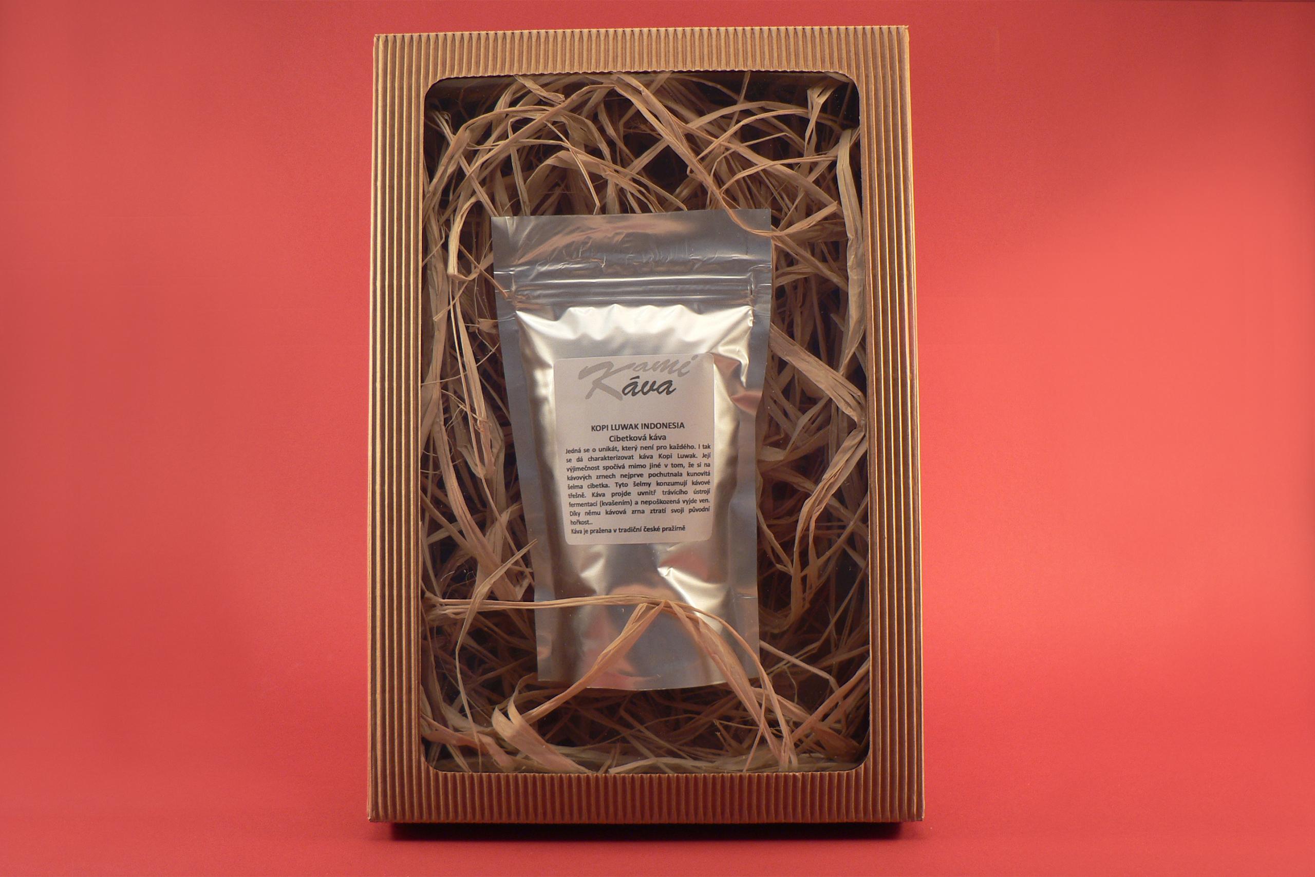 Kopi Luwak Indonesia - Cibetkova káva 100g (250g, 500g, 1000g) 100 g